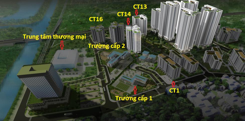 Chung cư CT13 - CT14 Hồng Hà Eco City