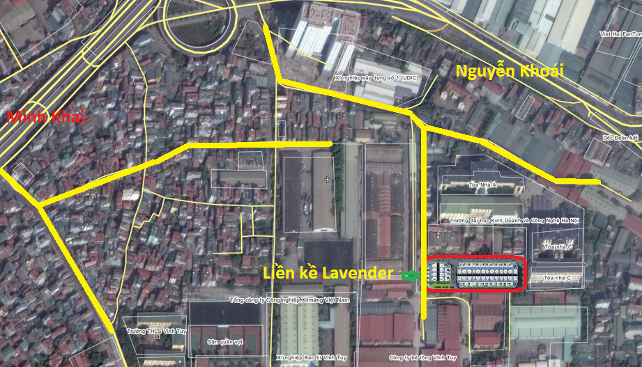 Vị trí dự án liền kề Lavender 124 Vĩnh Tuy