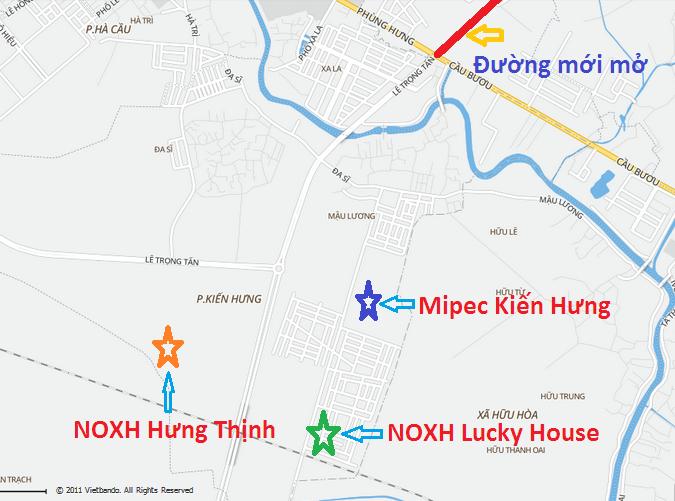 Vị trí nhà ở xã hội Lucky House Hà Đông