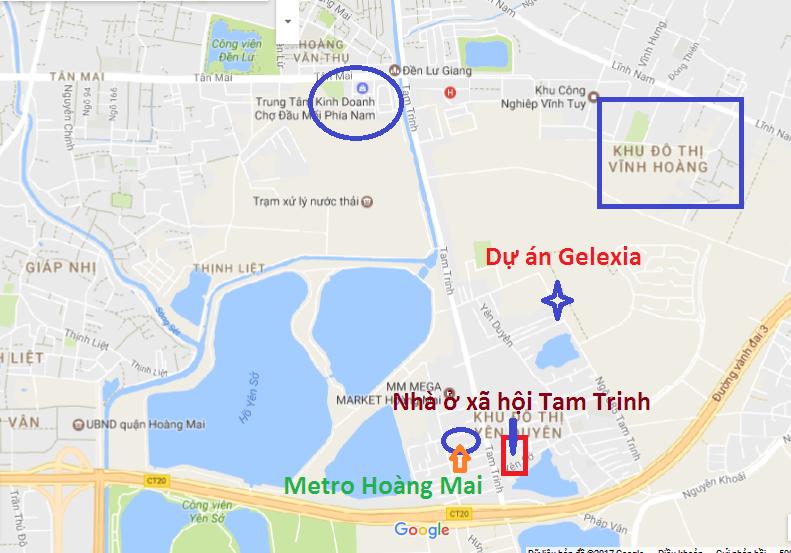 Vị trí nhà ở xã hội Tam Trinh