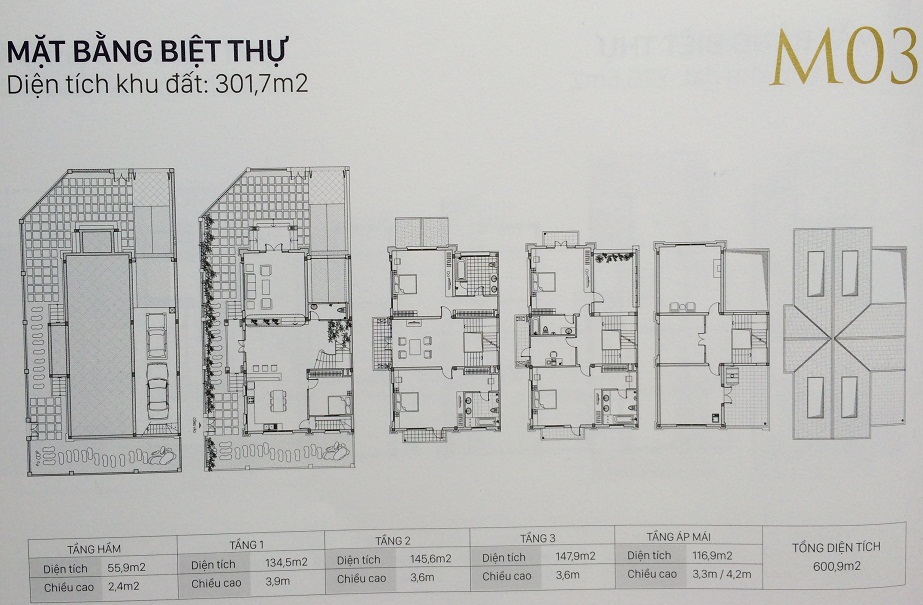Mẫu M03 biệt thự An Khang Nam Cường