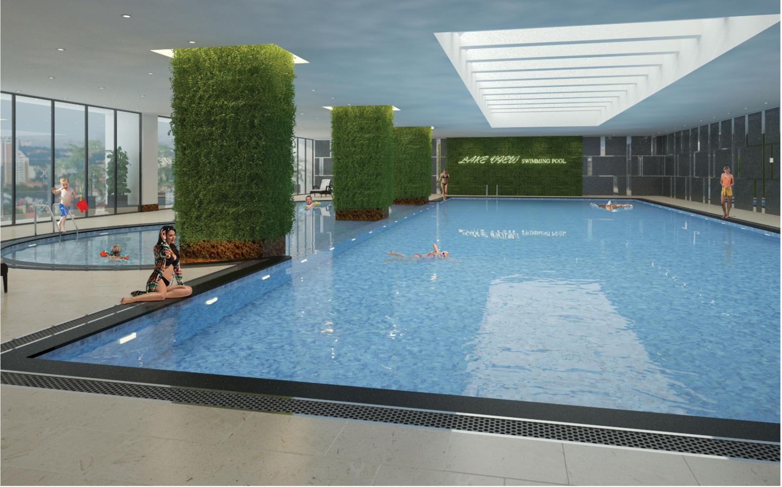 Bể bơi 4 mùa trong nhà khu nhà ở Bộ Công An Cổ Nhuế