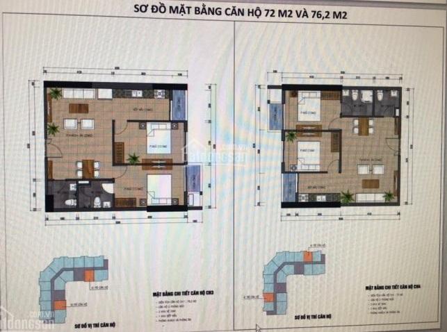 Thiết kế căn hộ 72m2 B32 Đại Mỗ