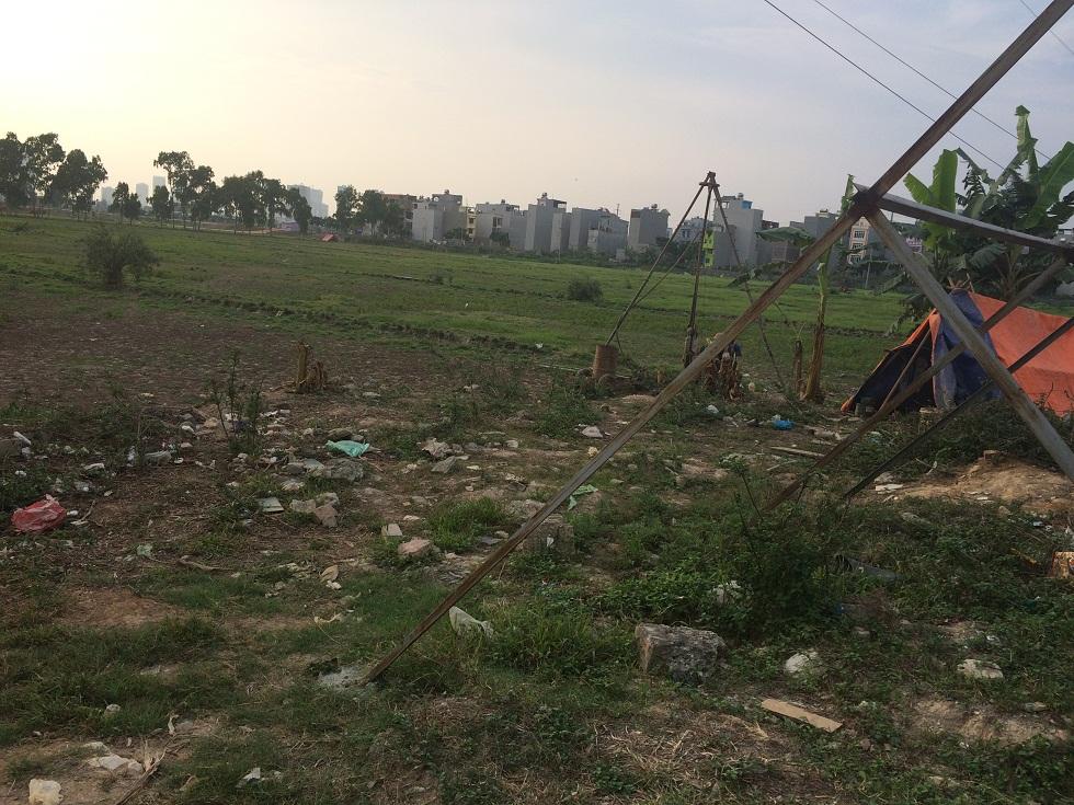 Khoan thử độ lún của đất tại dự án khu chức năng đô thị Kiến Hưng