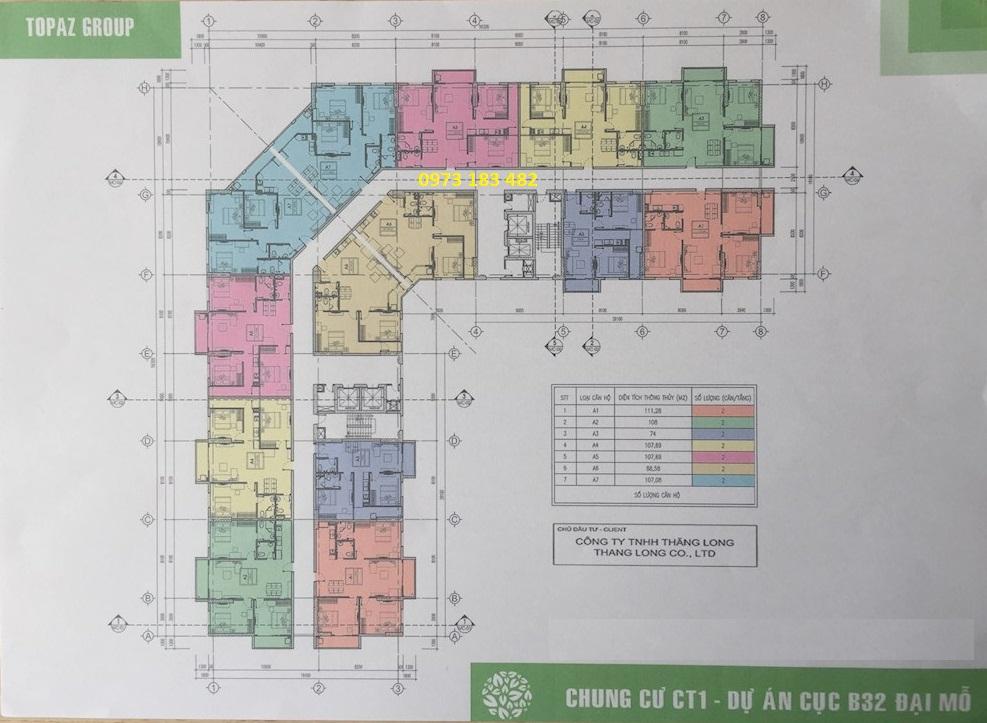 Mặt bằng chung cư B32 đại mỗ