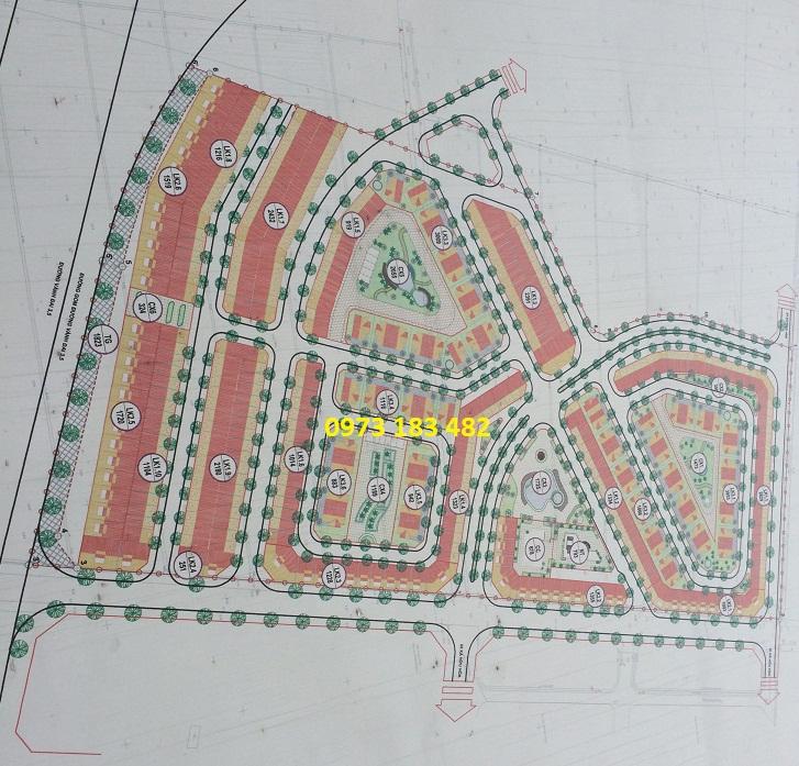 Mặt bằng khu chức năng đô thị Kiến Hưng Hà Đông