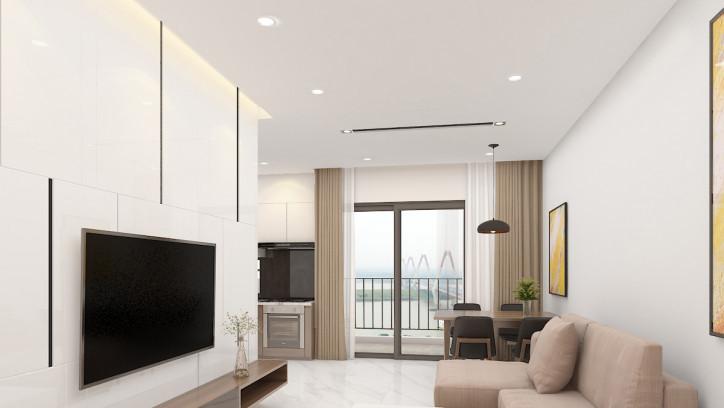 Phòng khách căn hộ Intracom Vĩnh Ngọc