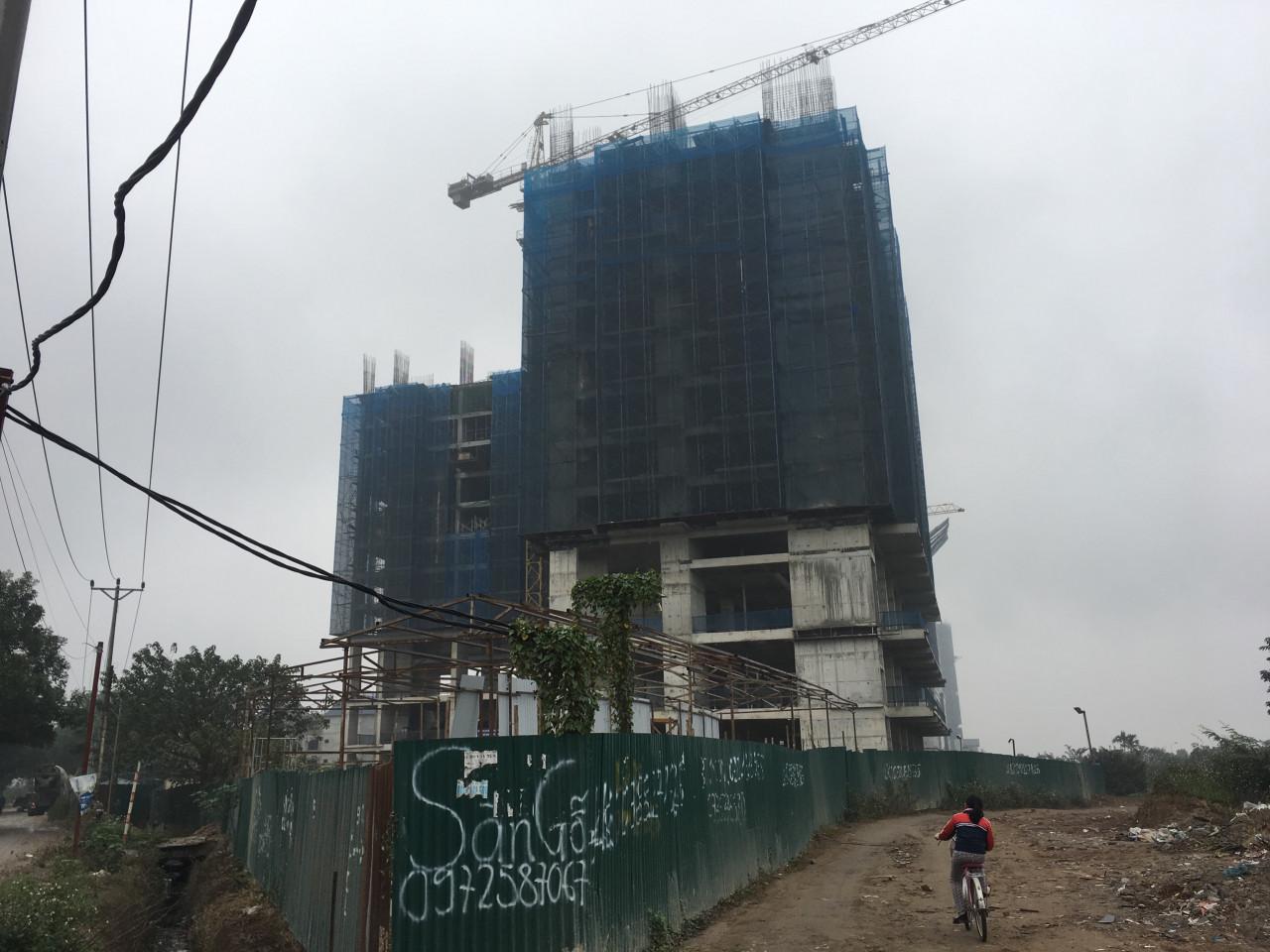 Tiến độ xây dựng chug cư B32 Đại Mỗ