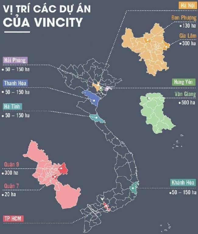 Dự án Vincity tại Việt Nam