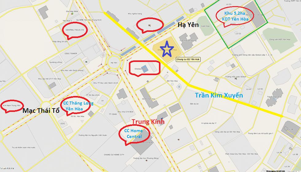 Chung cư E2 Yên Hòa - Chelsea Residences