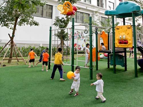 Khu vui chơi trẻ nhỏ trong dự án nhà ử xã hội Ecohome 3 Cổ Nhuế