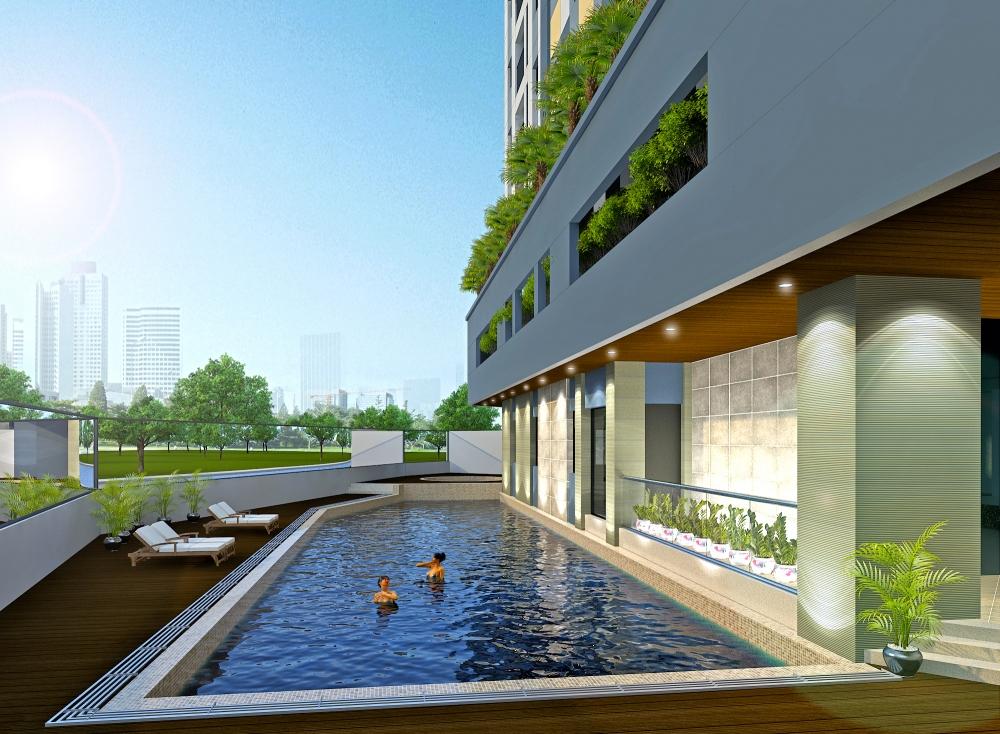 Bể bơi khu nhà ở xã hội Rice City Sông Hồng