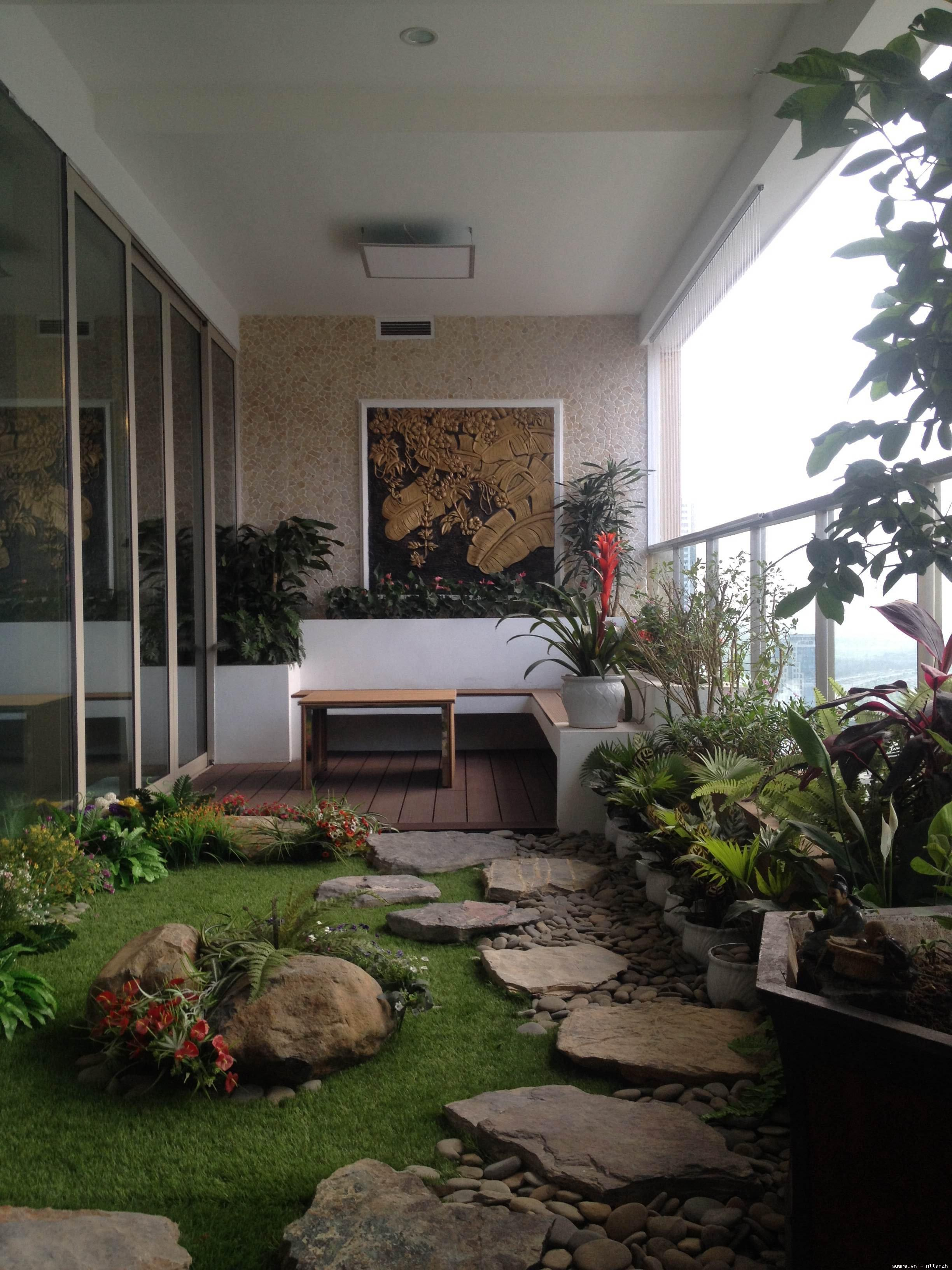 Cảnh đẹp cho lô gia chung cư