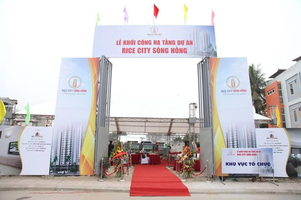 Khởi công xây dựng nhà ở xã hội Rice City Sông Hồng
