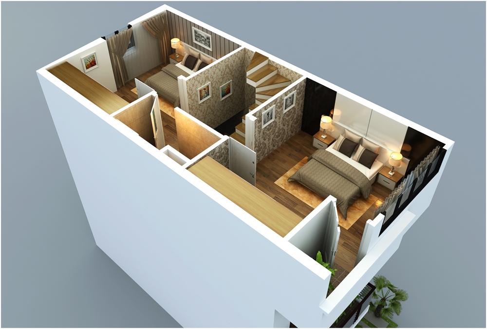 Thiết kế tầng 3 mẫu M11 liền kề Rice Sông Hồng