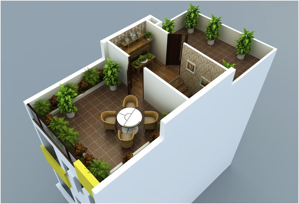Thiết kế tầng 5 mẫu M11 liền kề Rice Sông Hồng