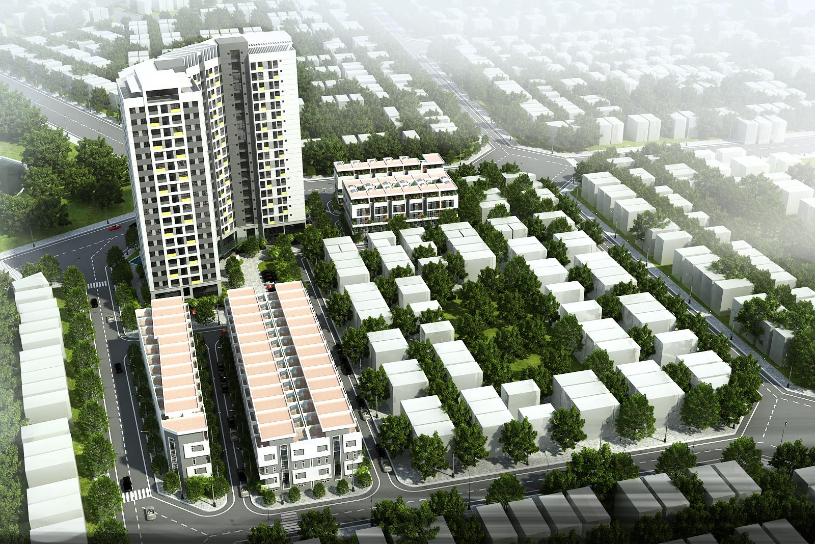 Tổng quan khu liền kề Rice City Sông Hồng