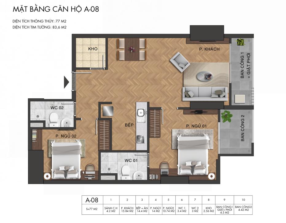 Thiết kế căn hộ Condotel Virgo Hotel Nha Trang