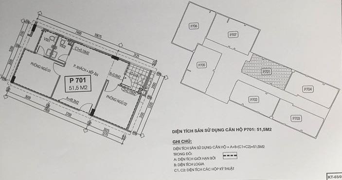 Thiết kế căn hộ 07 chung cư X203 Bộ Quốc Phòng