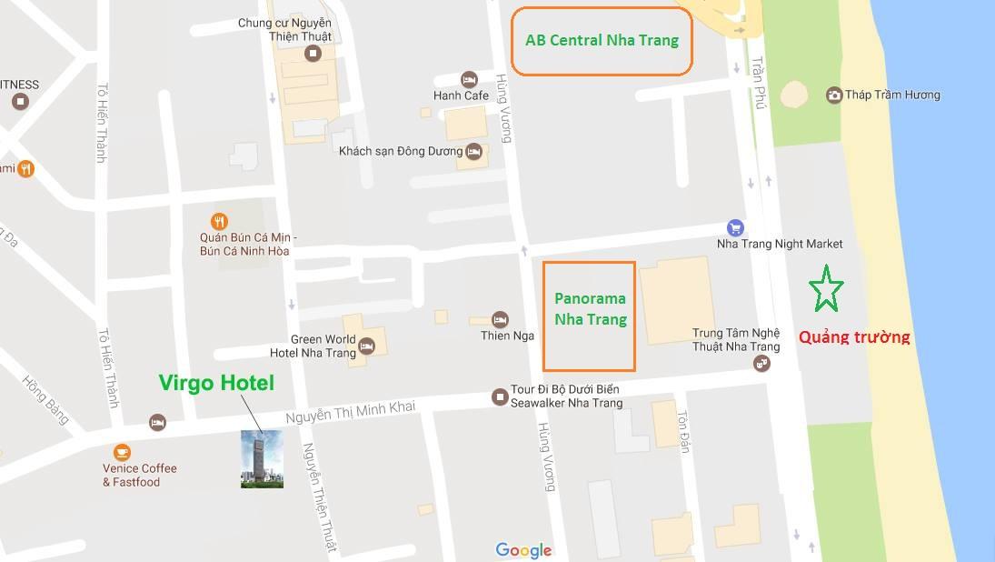 Vị trí dự án Virgo Hotel Nha Trang