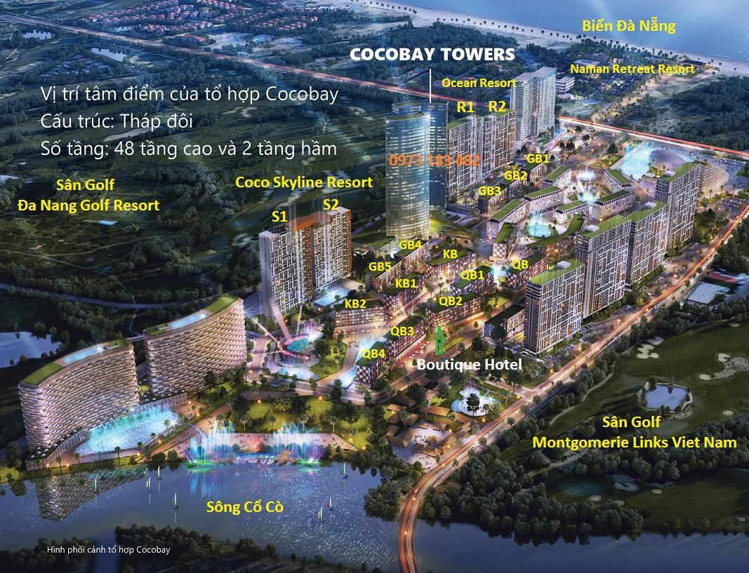 Vị trí trung tâm tháp đôi Cocobay Tower