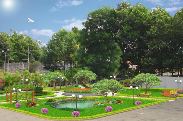 Công viên cây xanh trog FLC Đại Mỗ