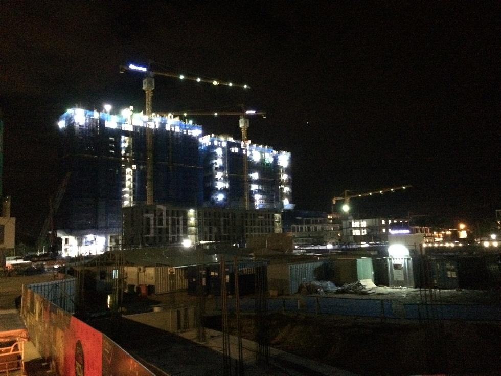 Tiến độ xây dựng Cocobay Đà Nẵng làm đêm