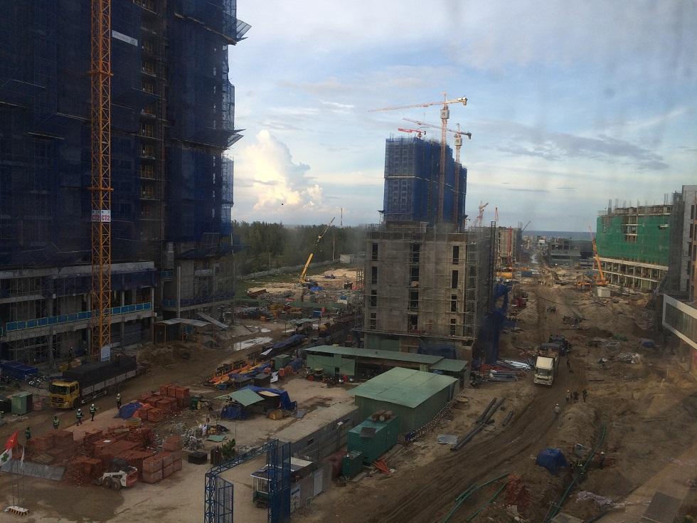 Tiến độ xây dựng Cocobay Đà Nẵng làm ngày