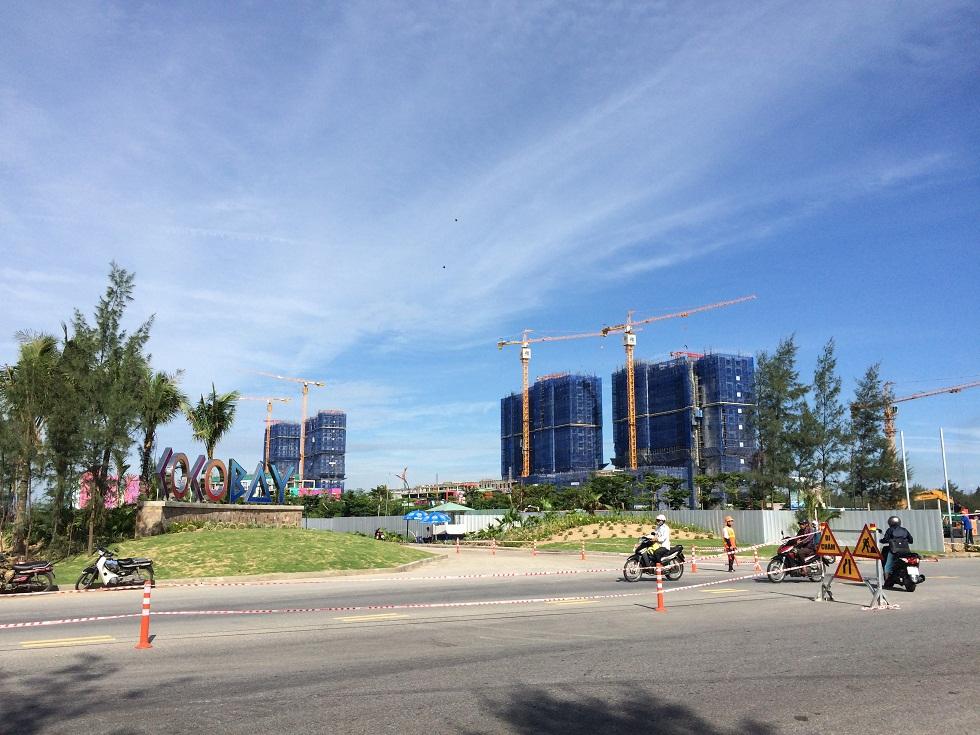 Cocobay nhìn từ đường Trường Sa