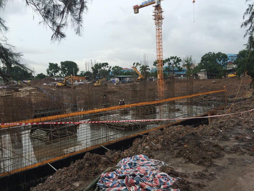 Tiến dộ xây dựng chung cư Hateco Xuân Phương