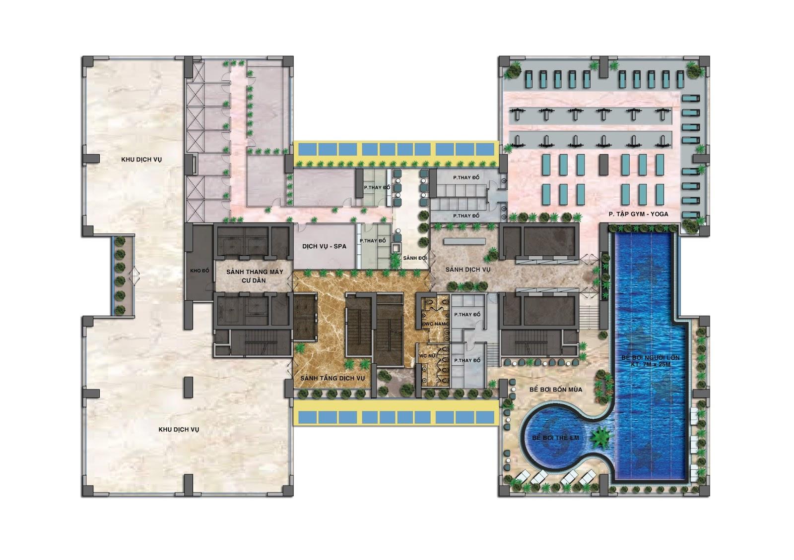 Tiện ích tầng 2 dự án Housinco Nguyễn Xiển