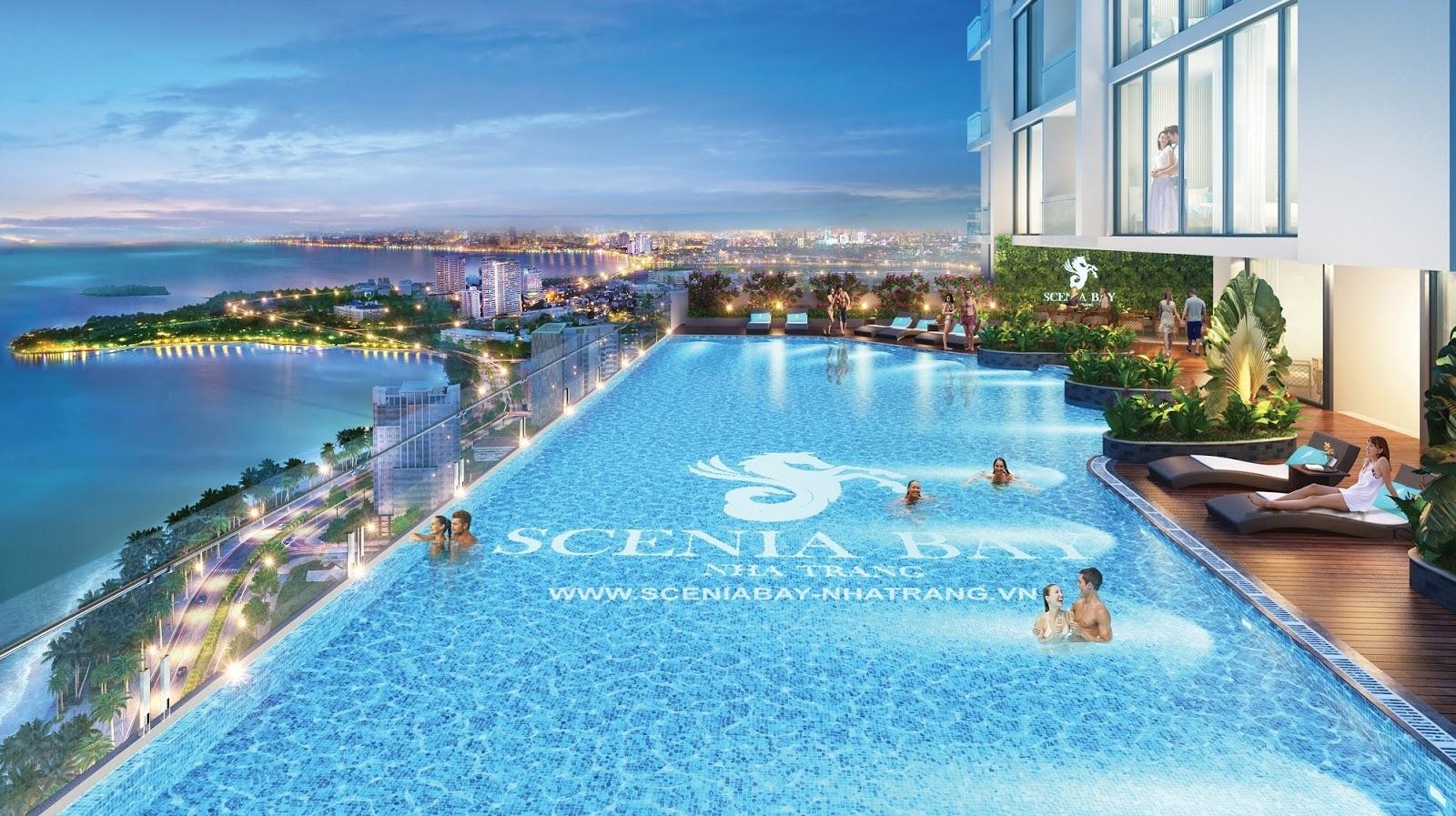Bể bơi vô cực Scenia Bay Nha Trang tầng 31