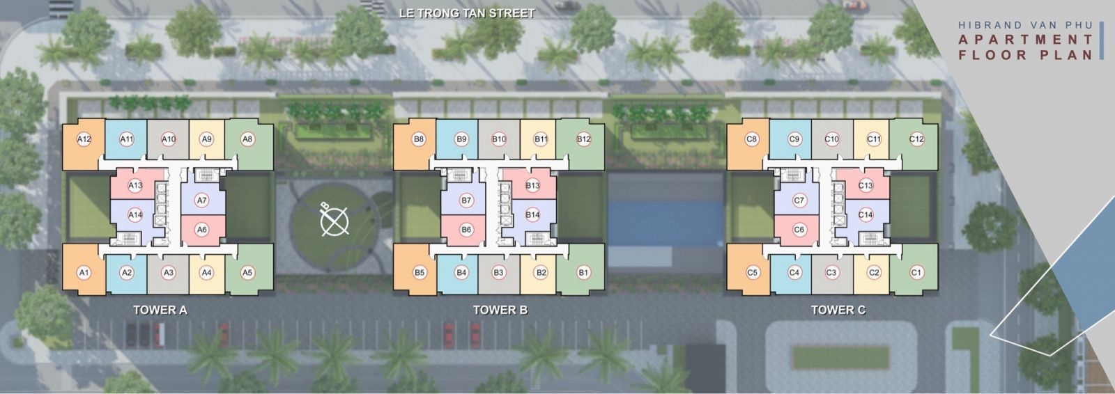 Mặt bằng thiết kế khu chung cư The K Park