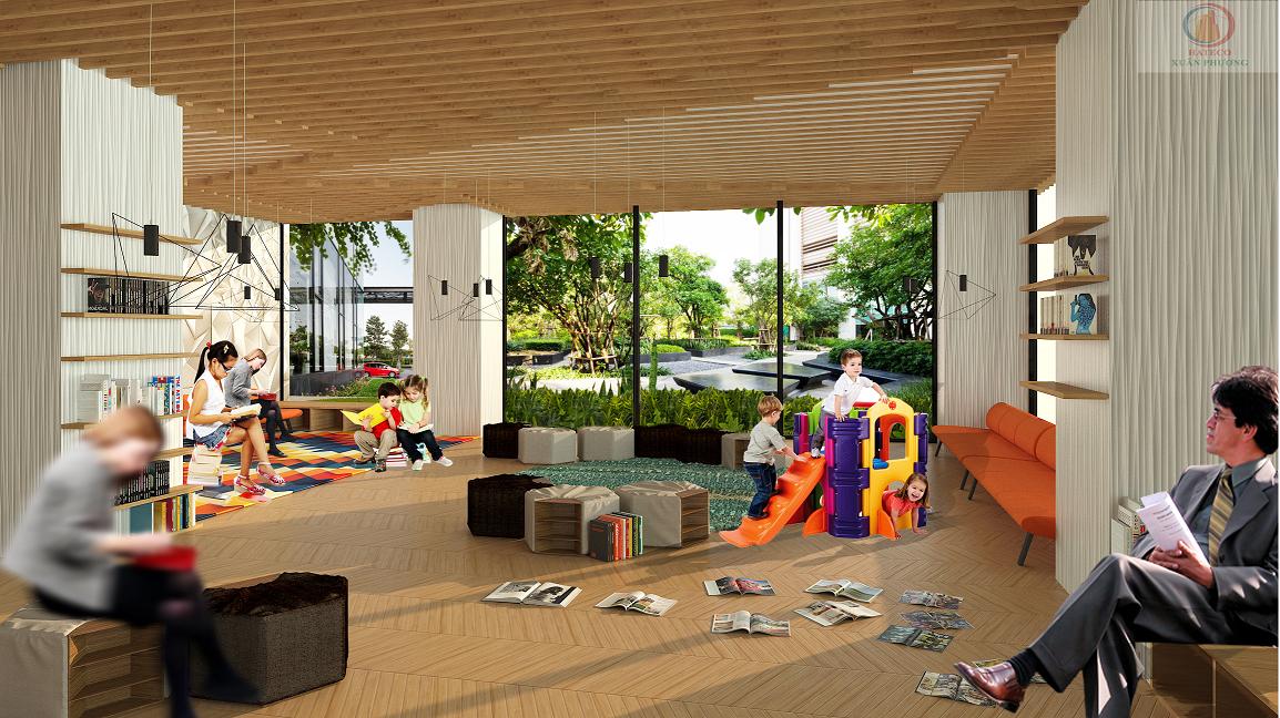 Phòng sinh hoạt cộng đồng , vui chơi dự án Housinco Tower
