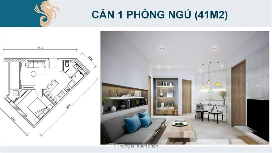 Căn hộ 1 phòng ngủ Scenia Bay Nha Trang