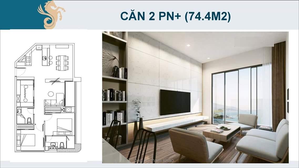 Căn 2 phòng ngủ + Scenia Bay Nha Trang