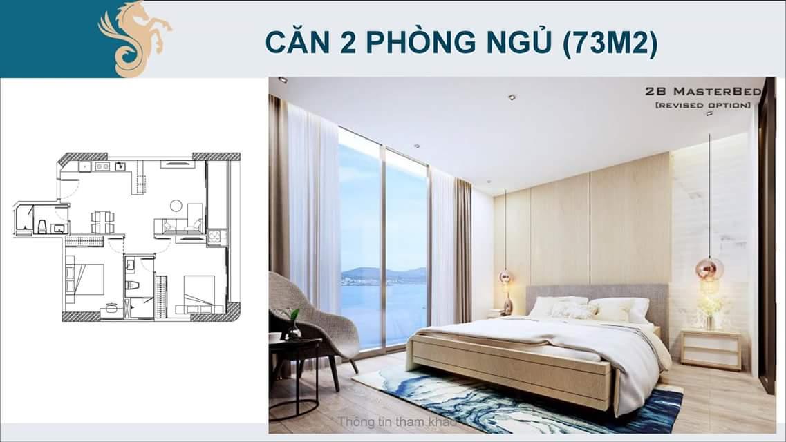 Căn hộ 2 phòng ngủ Scenia Bay Nha Trang