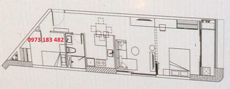 Thiết kế căn hộ 1PN+ Scenia Bay Nha Trang