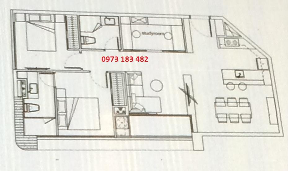 Thiết kế căn hộ 2PN+ Scenia Bay Nha Trang