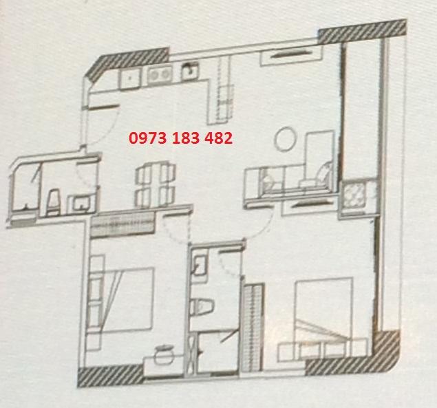 Thiết kế căn hộ 2PN Scenia Bay Nha Trang