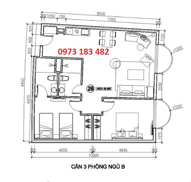 Thiết kế căn hộ 3 phòng ngủ FLC Hạ Long Grand Hotel