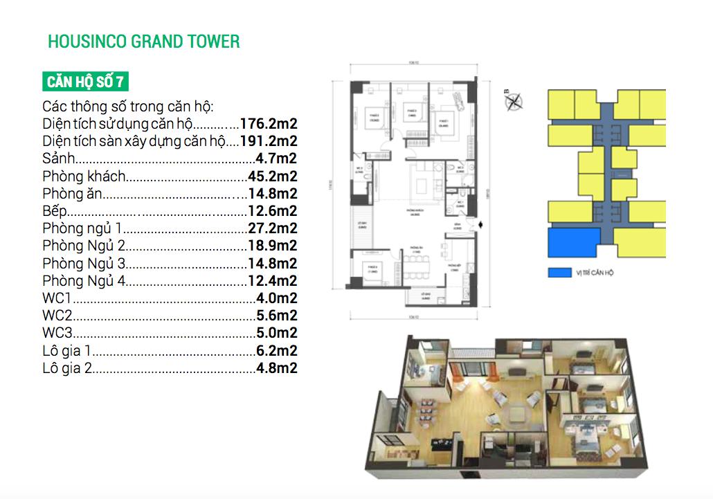 Thiết kế căn hộ số 7 chung cư Housinco Nguyễn Xiển