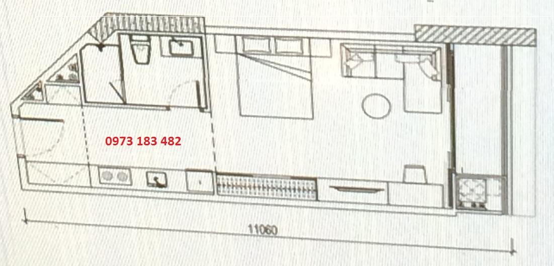 Thiết kế căn hộ Studio Scenia Bay Nha Trang