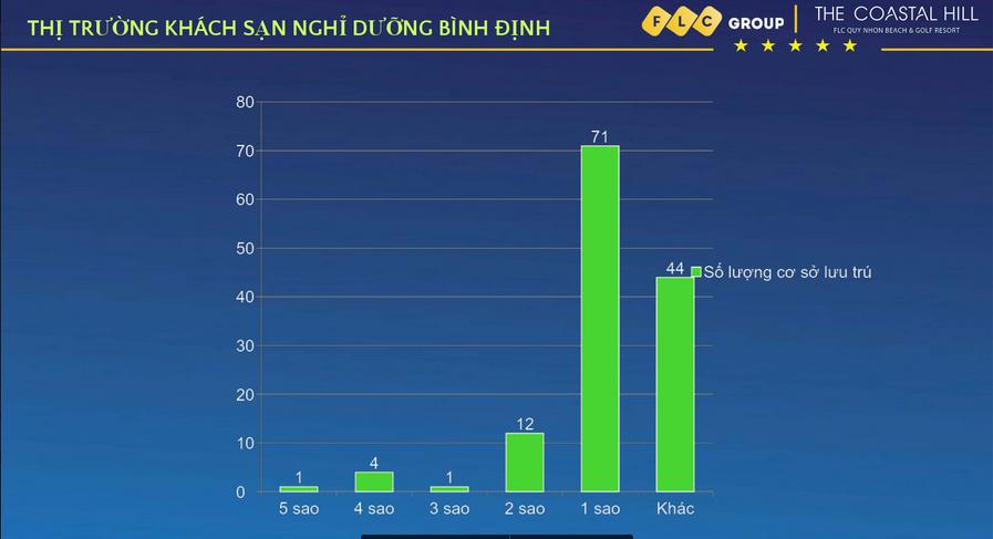 Thống kê số khách sạn ở Quy Nhơn