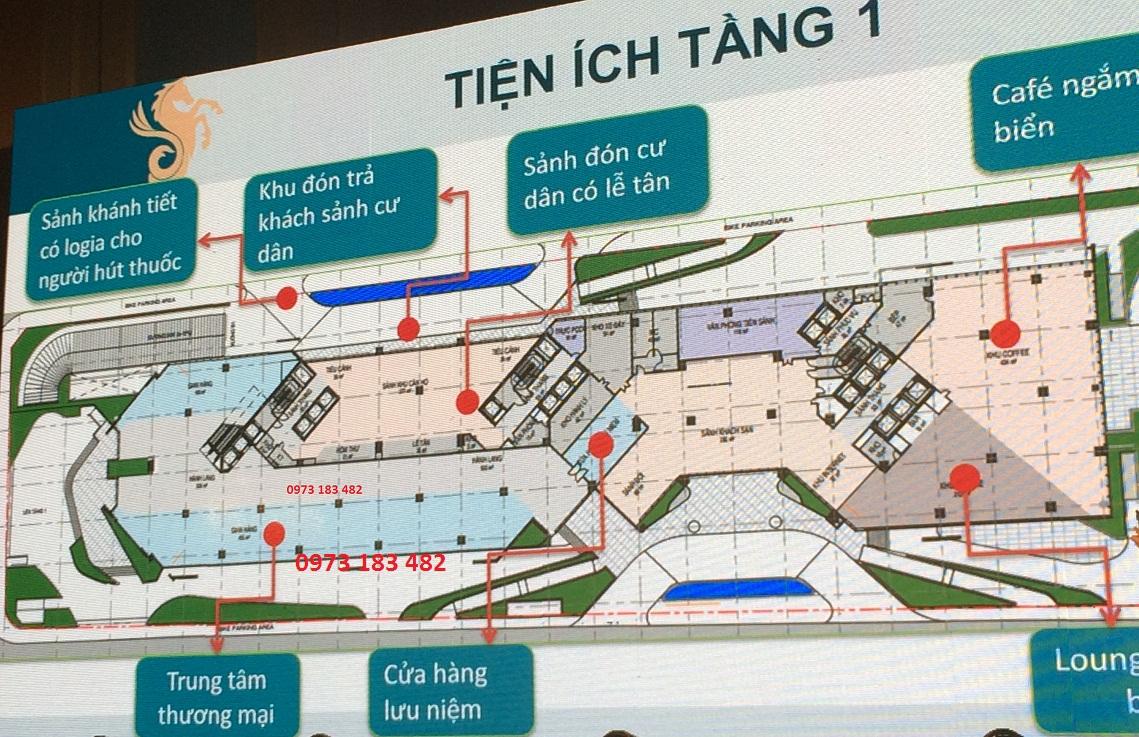 Tiện ích tầng 1 Scenia Bay Nha Trang