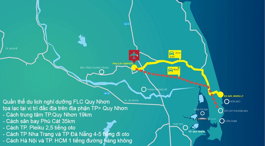Vị trí The Coastal Hill FLC Quy Nhơn