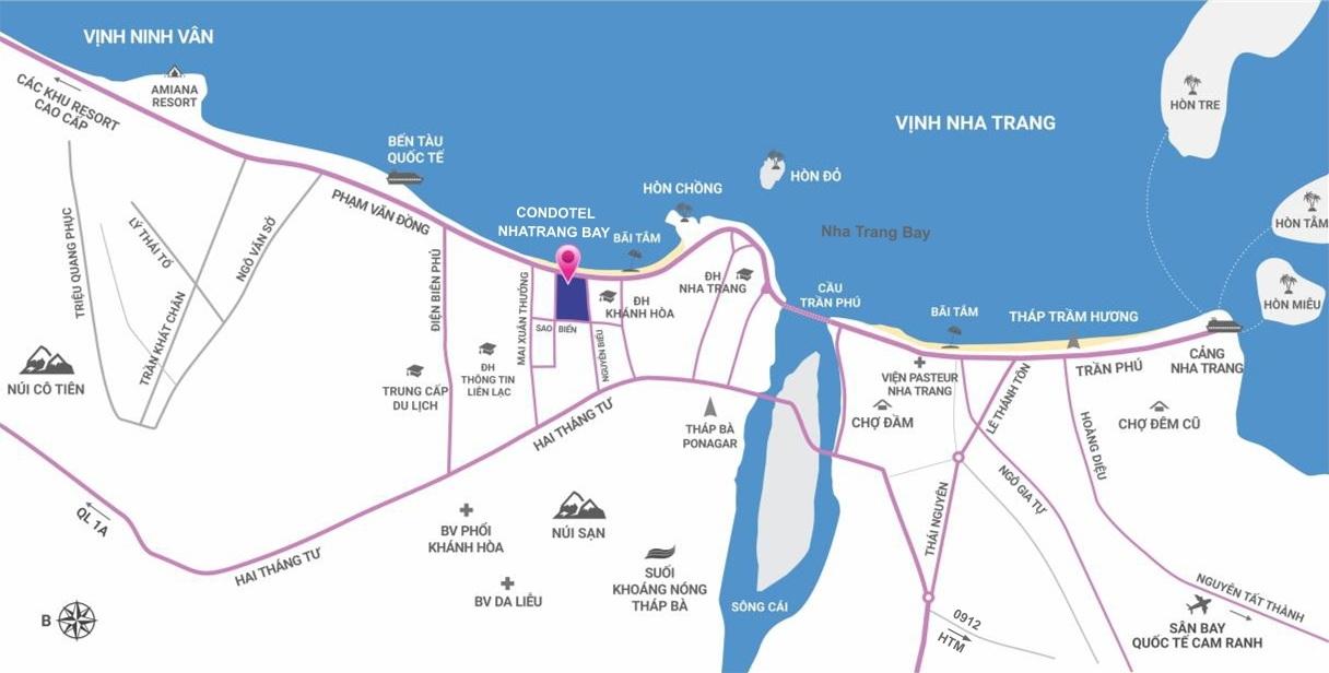 Vị trí trên bản đồ Scenia Bay Nha Trang
