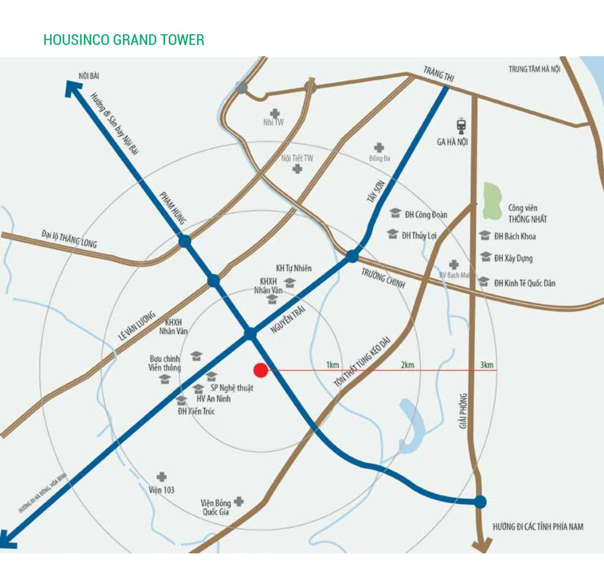 Vị trí liên kết vùng dự án Housinco Nguyễn Xiển