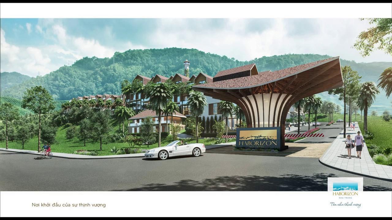 Cổng vào dự án Haborizon Nha Trang