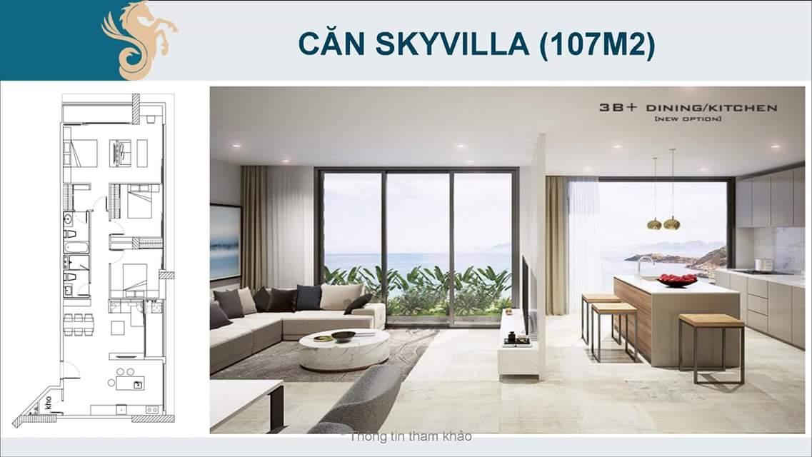 Thiết kế căn sky villa Scenia Bay Nha Trang